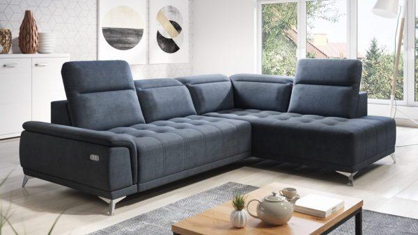divano con penisola destra balzano colore tessuto grigio scuro